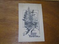Vintage James Finch Royster Pine Trees along a Rocky Path Black Sepia Bookplate
