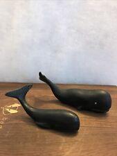 New ListingVintage Set of Two Cast Iron Aluminum Sperm Whale Whales Figurine Marineland