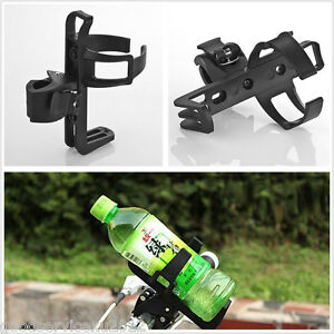Convenient Black Motorcycle Beverage Water Bottle Drink Cup Holder Quick Release