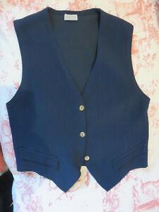 Gilet vero vintage anni '70 '80 jersey blu tg.L Boho Gipsy Rock