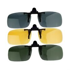 Driving Night Vision Clip-on Flip-up Lens Sunglasses Glasses Cool Eyewear SH