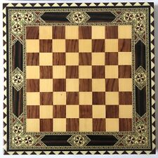 """Vintage Chess//Checkers Board Bandana Blue and Green RN14193 All Cotton 23/"""" x 21/"""""""