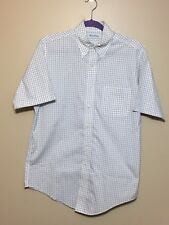 Mens Brooks Brothers Original Polo Dress Shirt SS Button Down Sz 15 Non Iron EUC
