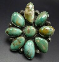 Arnold Goodluck NAVAJO Sterling Silver ROYSTON TURQUOISE Cluster RING size 7