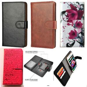 Universal Slim Clip-on Mobile Phone Case For Doro 8035 / Doro 8050 - PU Leather
