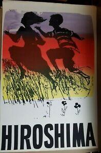 HIROSHIMA 1966 VINTAGE SILK SCREENED ORIGINAL ART POSTER By EARL NEWMAN -RARE!