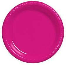 """Hot Magenta 9"""" Plastic Plates 20 Per Pack Pink Decorations & Party Supplies"""
