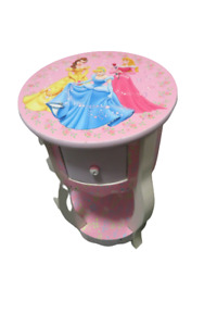 "Disney Princess Night Stand Night Table With Drawer 23""Tall x 13"" Diameter"
