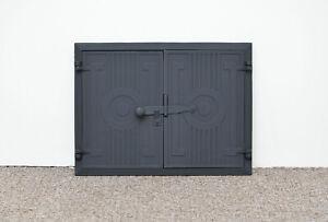 43.7 x 32.7 cm cast iron fire door clay / bread oven doors pizza stove fireplace