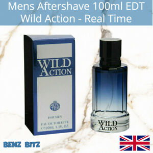 Wild Action Mens Aftershave By Real Time 100ml EDT Eau De Toilette Spray