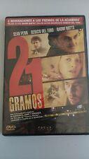 21 GRAMOS DVD SEAN PENN BENICIO DEL TORO NAOMI WATTS NUEVO Y PRECINTADO