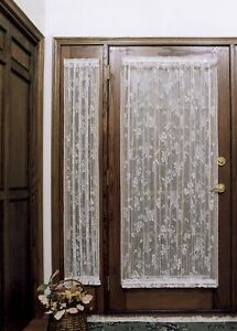 "English Ivy Lace Curtain Sidelight - 24"" wide x 63 "" long - Ecru - Heritage Lace"