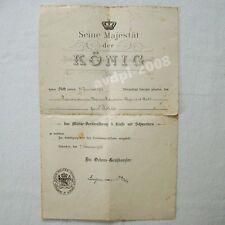 Bayern Mlitärverdienstkreuz 3. Klasse m.S. Urkunde 1916 - RIR 23 - Art. 7239