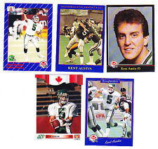 KENT AUSTIN CFL SASKATCHEWAN ROUGHRIDERS LOT OF 5 WITH RC