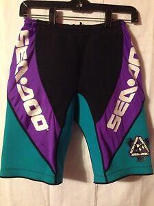 Vintage 1990's Women's Sea Doo Padded Waterski Shorts, Large