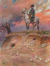 Painting Portrait Kossak Napoleon Bonaparte Battlefield Canvas Art Print