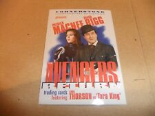 THE AVENGERS RETURN DIANA RIGG TV CORNERSTONE PREMIER CARD P9 PATRICK MacNEE