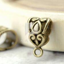 60pcs Vintage Brass Antique Bronze Bails Connectors Findings 13x8x8mm TS4288-4