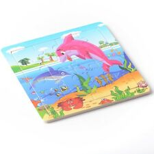 16pcs Puzzle Jigsaws Toddler Kids Child Early Learning Toys Educational Dolphin