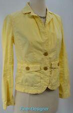 J J. CREW yellow Cotton blazer light jacket suit coat classic twill chino XS NEW