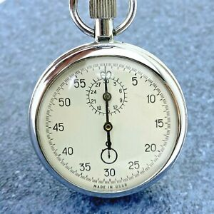 RARE Soviet Stopwatch Agat Zlatoust Mechanical Pocket Made in USSR Vintage