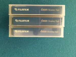 3 NEW Fujifilm  4mm DAT Cleaning tape Cartridges for DDS-1,2,3,4 and 5