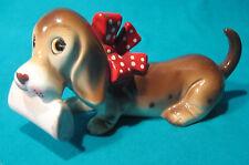 Vintage 1950s RARE Basset Hound Porcelain Dog Figurine Nippon Japan Kitsch MCM