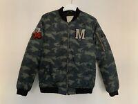 Boys Zara Age 13 - 14 Years Bomber Jacket Padded Camouflage Pattern