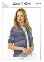 "JAMES C,BRETT COTTON ON DOUBLE KNITTING PATTERN 28""46"",LADIES LACY CARDIGAN"
