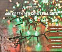 384er 400 LED Cluster Lichterkette Strom grün rot gold innen außen Timer Dimmer