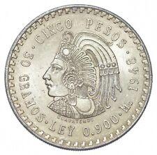 SILVER - WORLD COIN - 1948 Mexico 5 Pesos - World Silver Coin *478