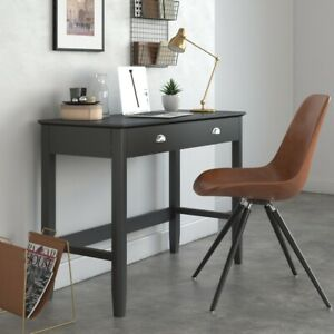 Highgate Grey Office Desk / Charcoal Grey Modern Painted Work Space