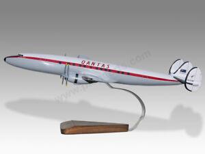 Lockheed Super Constellation Qantas Southern Spray Handcrafted Display Model