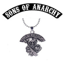 Sons of Anarchy Biker Club Logo Grim Reaper Pendant Necklace