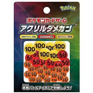 Acrylic Damage Counters - Pokemon Card Game - Japan Pokemon Center - US Seller