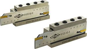 ERAX Spannblock + Abstechschwert für Sandvik Stechplatten Typ N123-0300 NEU
