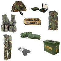 Kids Pack H Army Command Outdoor Fancy Dress Up Bushcraft Camo MTP/DPM Den Set