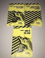 Cliffs Notes Book Lot 3 Classics Literature Lord Of Rings Flies Hobbit Oedipus