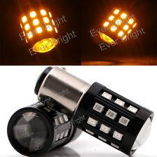 2Pcs Amber 1016 1034 1142 1157 BAY15D 33SMD 2835 LED Reverse Turn Brake Light