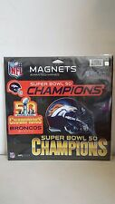 DENVER BRONCOS SUPER BOWL 50 CHAMPIONS NEW SET OF 3 CAR REFRIGERATOR MAGNETS