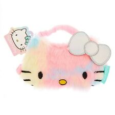 Hello Kitty Rainbow Sleep Mask Fuzzy Furry Soft Sleep Aid Plush Sleeping Mask