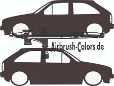 Aufkleber / Sticker VW Polo 2 Coupe´ Silhouette *Tuning*Stickerbomb