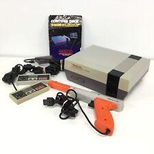 Vintage Nintendo Entertainment System Control Desk & Controllers #573