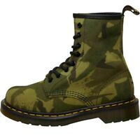 Dr Martens Womens 1460 British Camo Suede Boots Green ALL SIZES