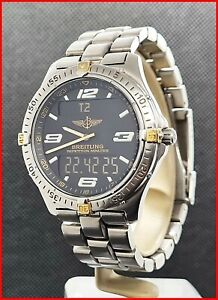 Breitling Aerospace F65062 Titanium ANA/DIGI Multifunction 40mm Men's Watch