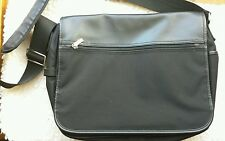 Briefcase Laptop Notebook Computer Bag Travel Carry On Case Black Vinyl