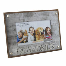 Galvanised Metal Wood Grankids Photo Picture Frame 4 x 6""