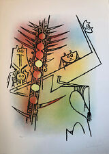 "Wifredo Wilfredo LAM ""Le Feu vert"" , 1974 original hand signed lithography"