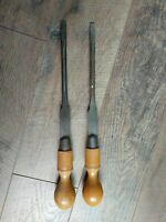 "2 ~ Vintage W H Clay Ltd Sheffield Cabinet Makers Screwdrivers England 16"" X1/2"""