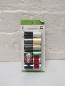 Singer Polyester Thread 25yd 12/Pkg-Light & Dark Shades